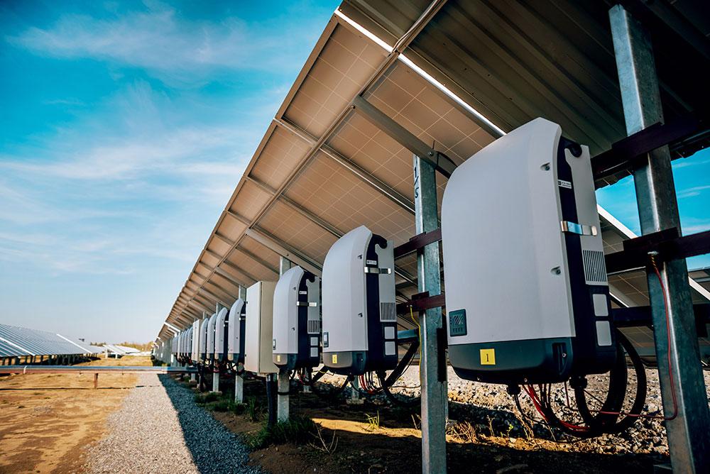 solar battery farm