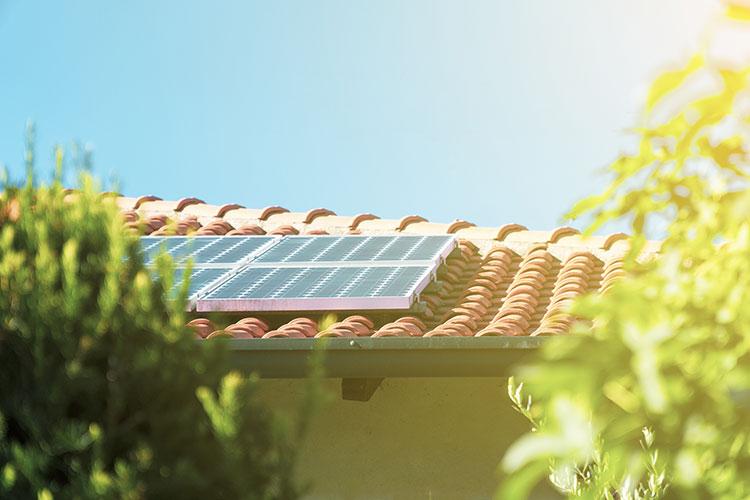 australian roof with solar panels